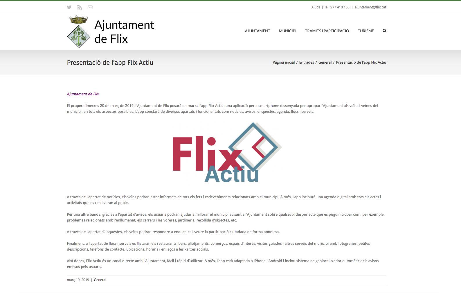 Presentació de l'app Flix Actiu